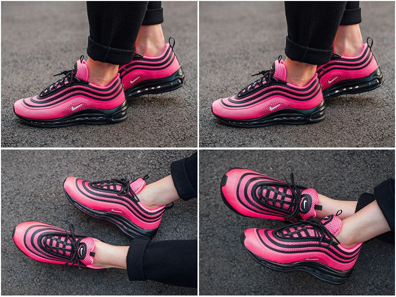 2017 Fall Winter New NIKE Air Max 97 Ultra 17 Racer Pink Black White 917999-
