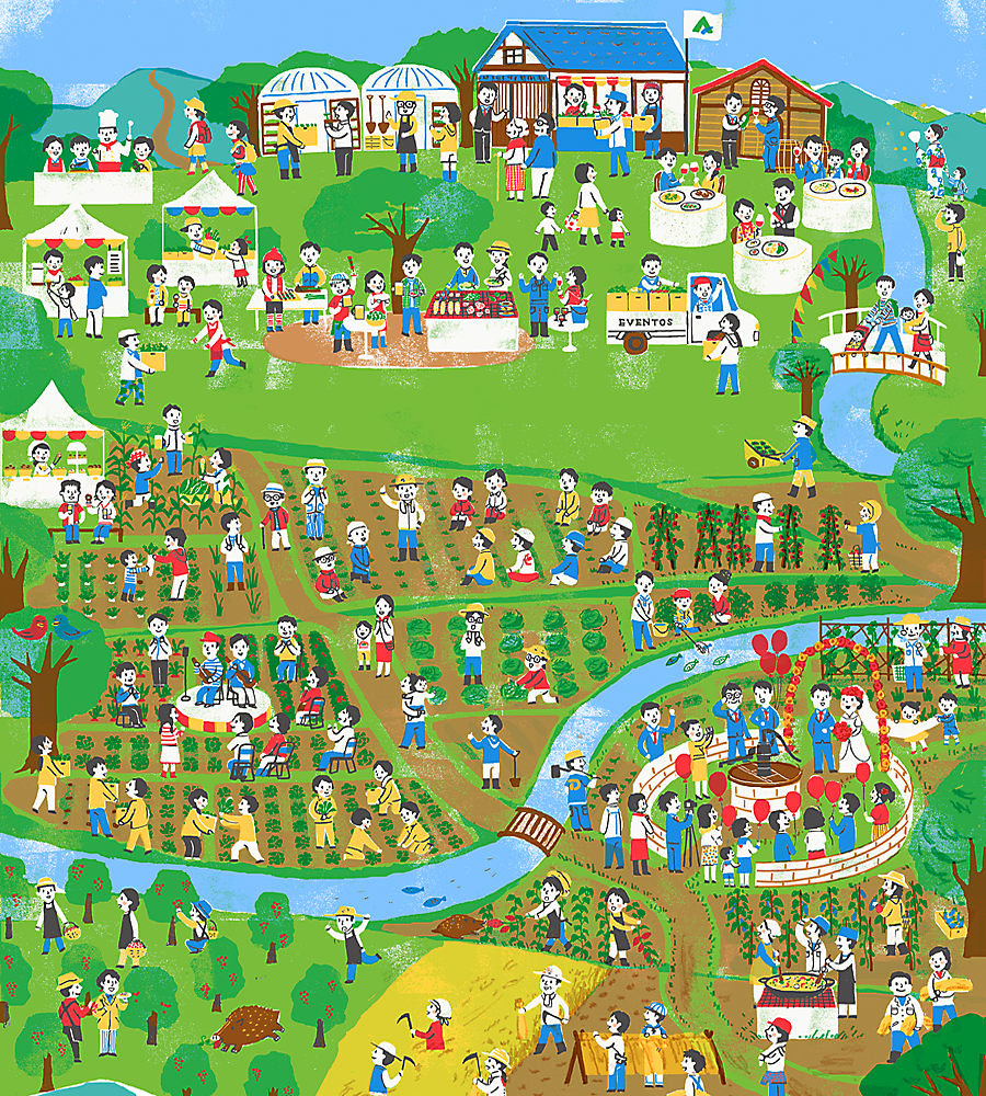 アグリコライベントス チャレンジ農園吉山 イラストマップ グラフィックポスター アグリコラ