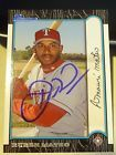 Ruben Mateo SIGNED 1999 Bowman #98 Texas Rangers Brewers AUTOGRAPH