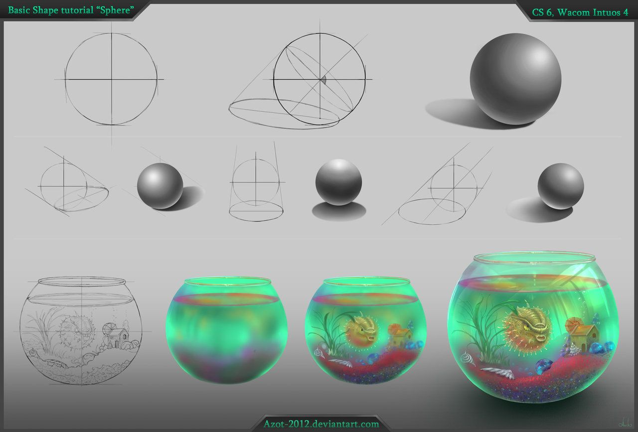 Sphere Tutorial By Azot 2013 On Deviantart Digital Art Tutorial Tutorial Sphere