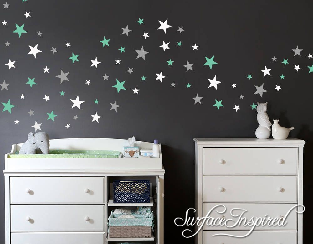 Wall Decals Stars In Variety Sizes And 3 Diffe Colors Nursery Home Decal Decor Stickers Star 162 Total 4 By
