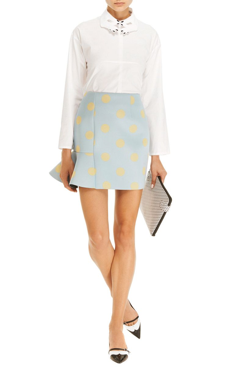 Laura Embroidered-Collar Cotton Top by Vivetta - Moda Operandi