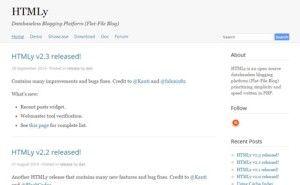 #HTMLy: Databaseless #Blogging Platform