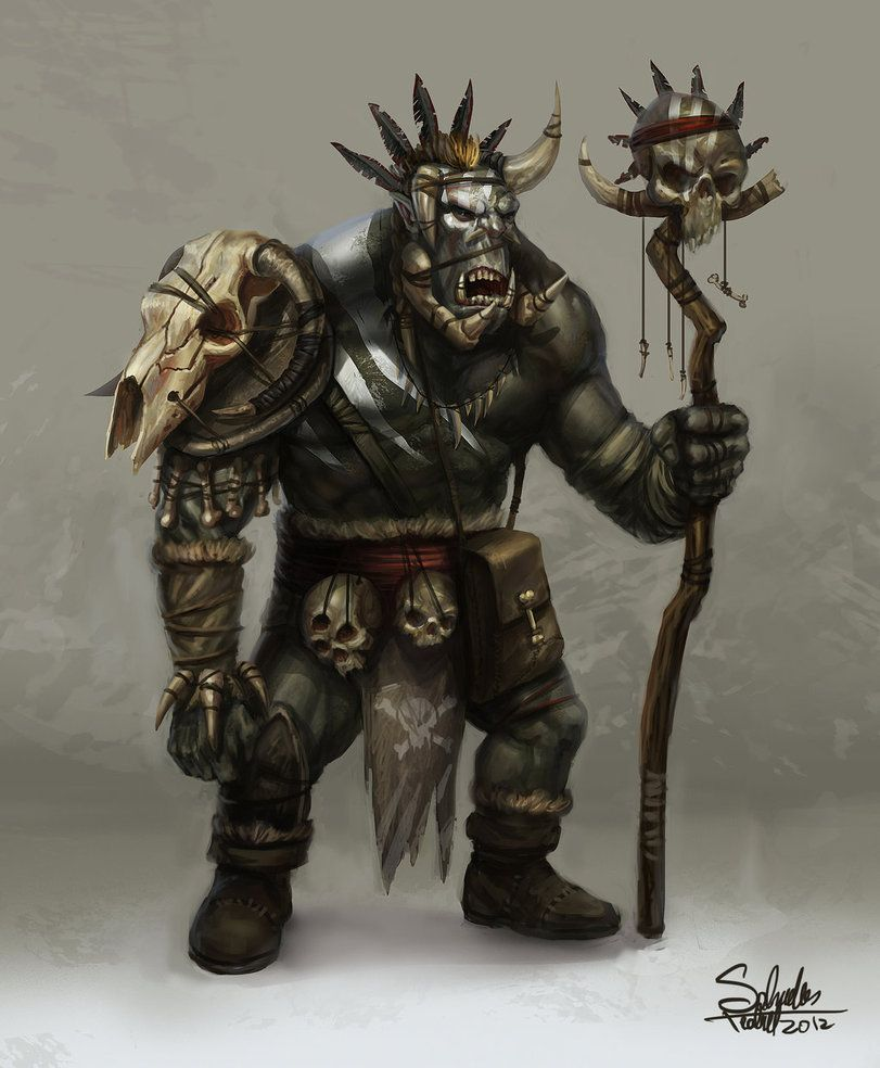 Orc Shaman By Saturnoarg On Deviantart Scary Orc Outfits Fantasy
