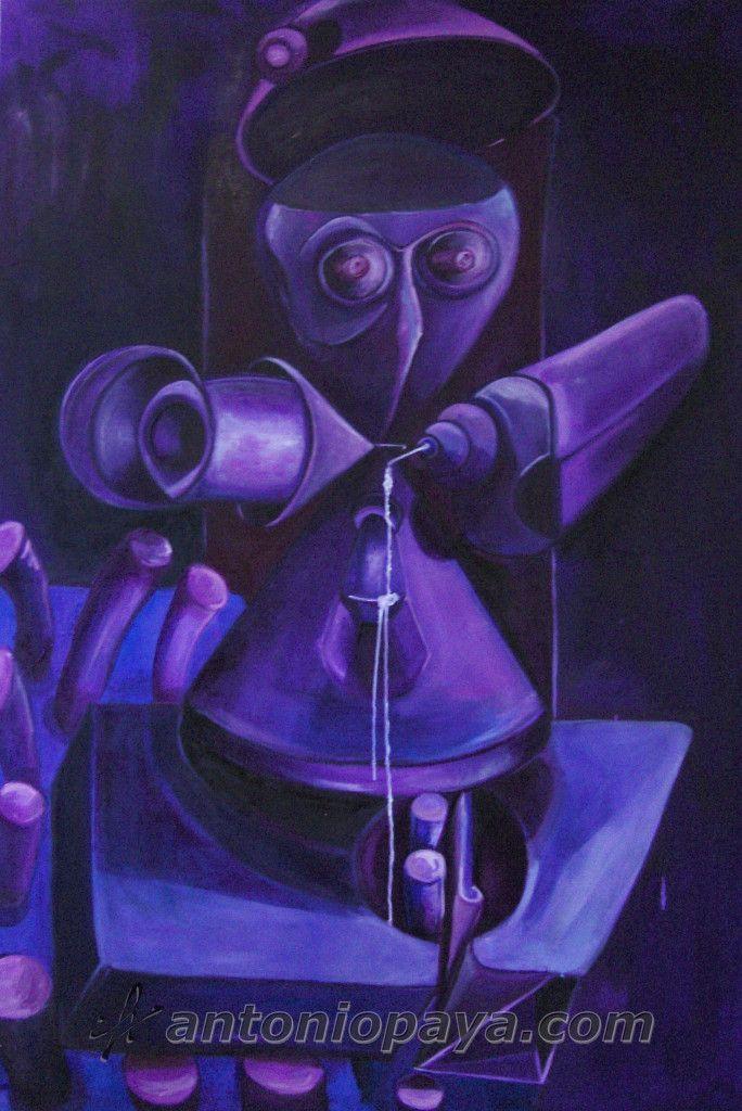 """""""Vitrubio XXI"""" (2007) Acrílico y óleo sobre lienzo , 200x150cm. J.A. Payá"""