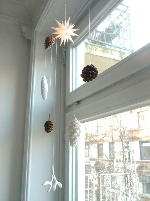deko fenster Winterdeko Pinterest Fenster, Deko und Weihnachten - wohnzimmer deko basteln