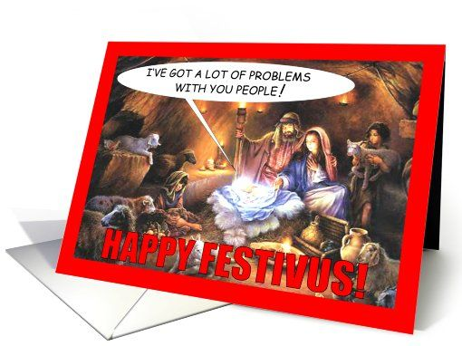 Festivus in the manger card humor greeting card universe by festivus in the manger card humor greeting card universe by hipster doofus m4hsunfo