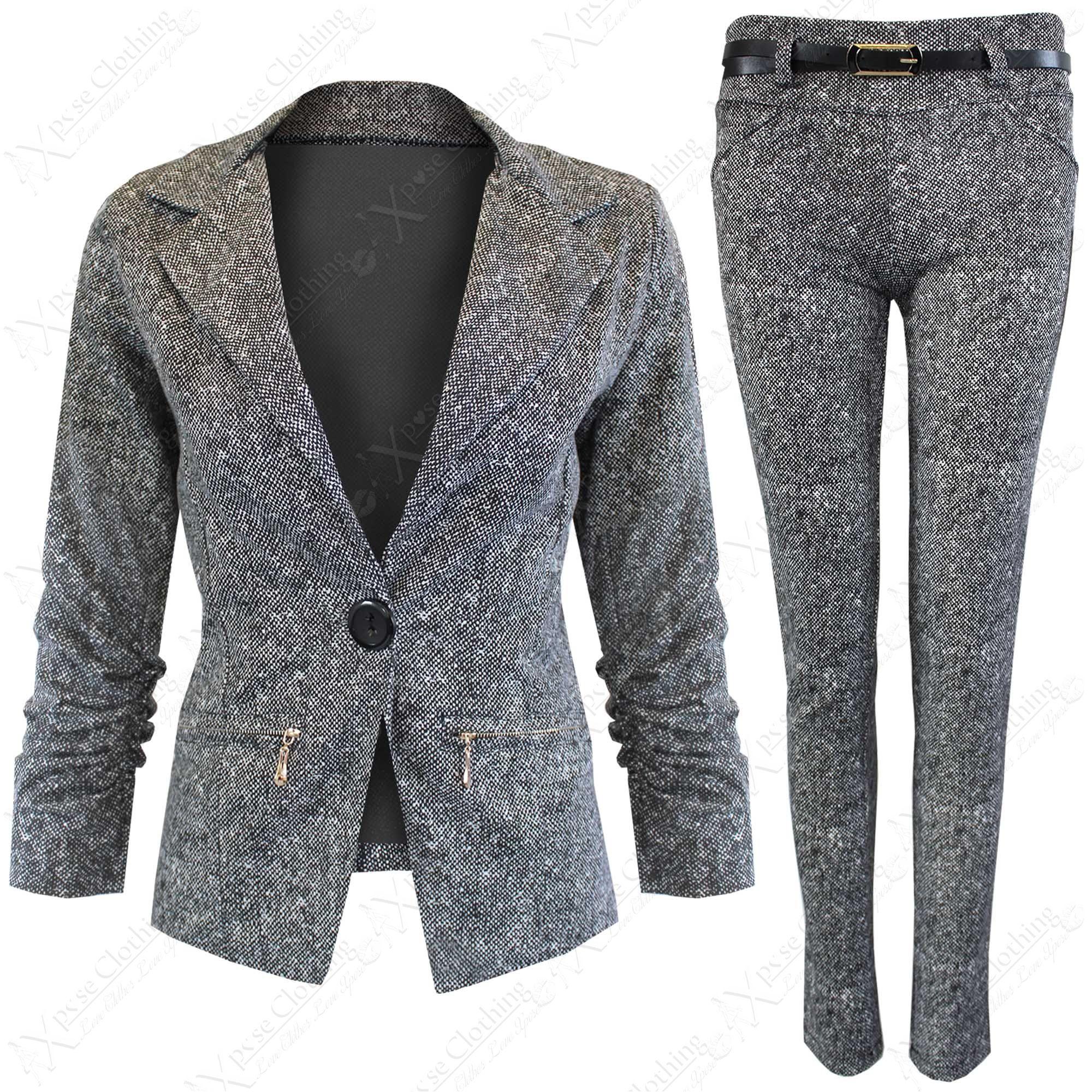 Tweed Pant Suit