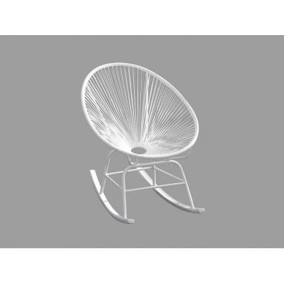 chaise de jardin bascule alios en fils de rsine tresss blanc achat vente chaise fauteuil jardin chaise de jardin bascule cdiscount - Chaise A Bascule Blanche