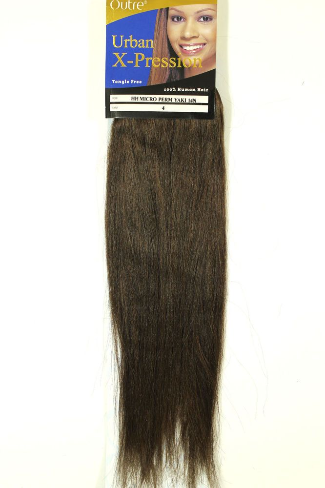 100 human hair extensions weft by outre 4 micro perm yaki weave 100 human hair extensions weft by outre 4 micro perm yaki weave 14 long pmusecretfo Images