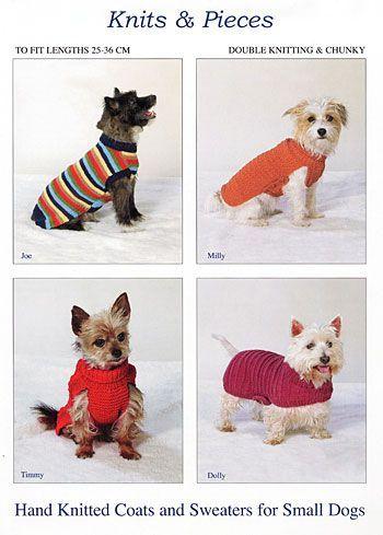 Diferentes patrones para tejer con agujas. | MASCOTAS | Pinterest