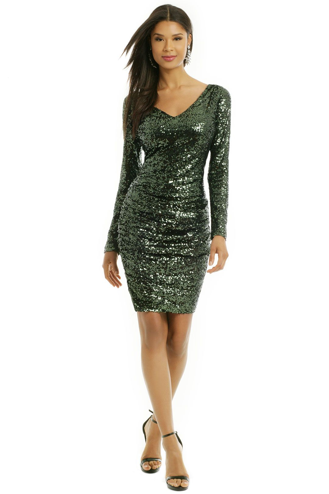 Sequin Shamrock Dress by Badgley Mischka for $65 - $75 | Rent The ...