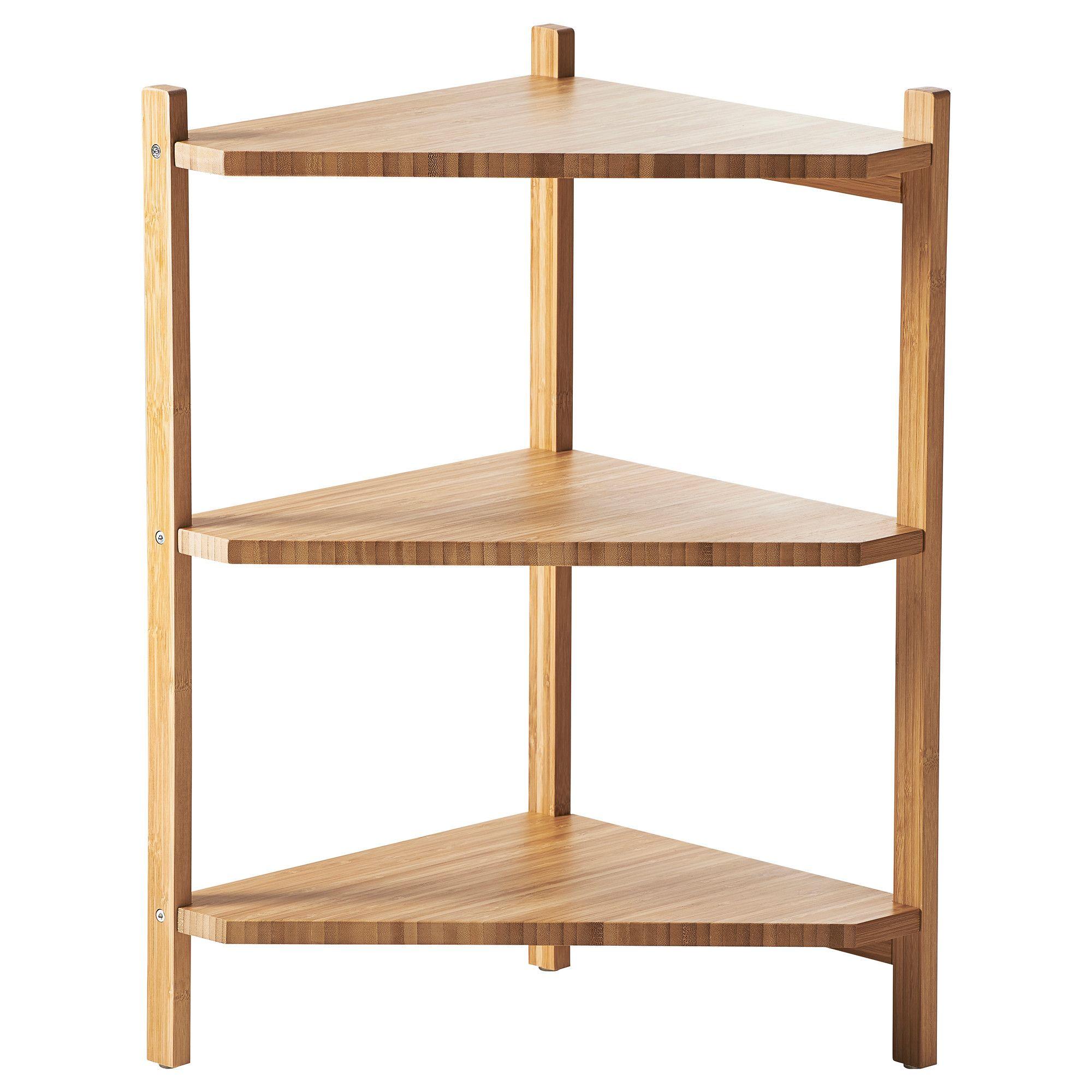 Ragrund Sink Shelf Corner Shelf Bamboo 13 3 8x23 5 8 Eckregal Ikea Eckregal Eckregale