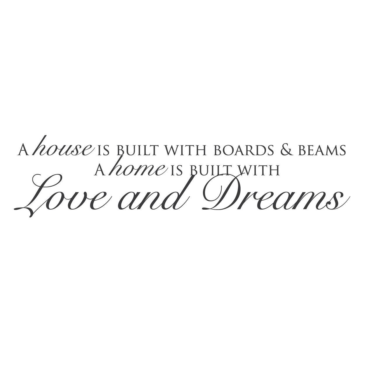 "Quotes About Dreams And Love Wall Quotes Wall Decals  ""love And Dreams""  Quote Wall Decals"