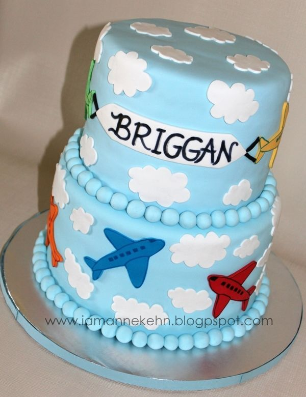 Airplane theme baby shower cake Lo Wo any chance you would want