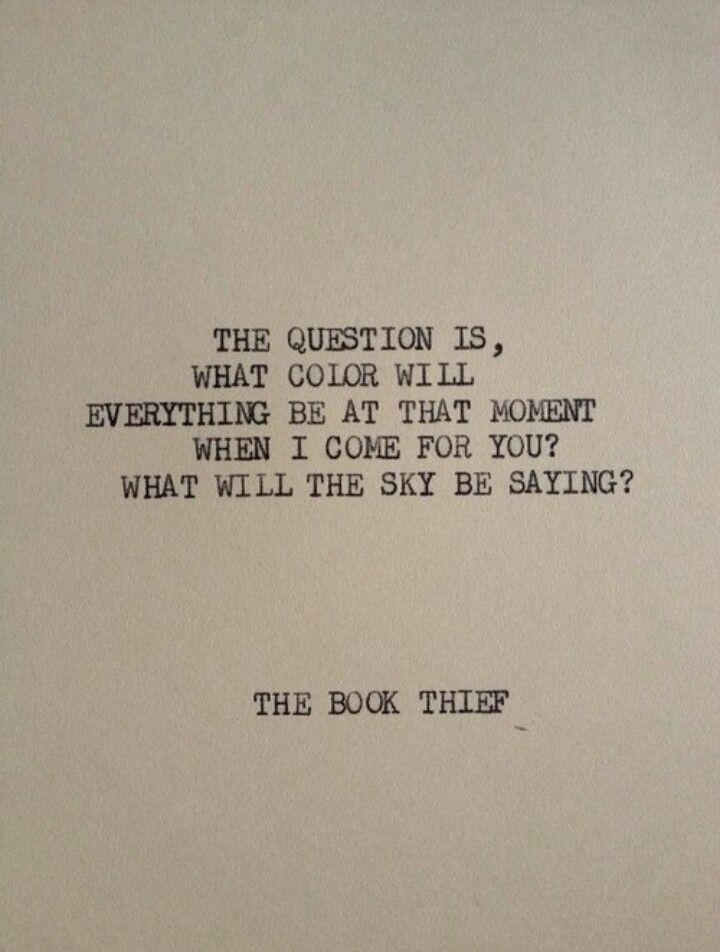 What color will the sky be // the book thief | Quotes | Pinterest | Poem