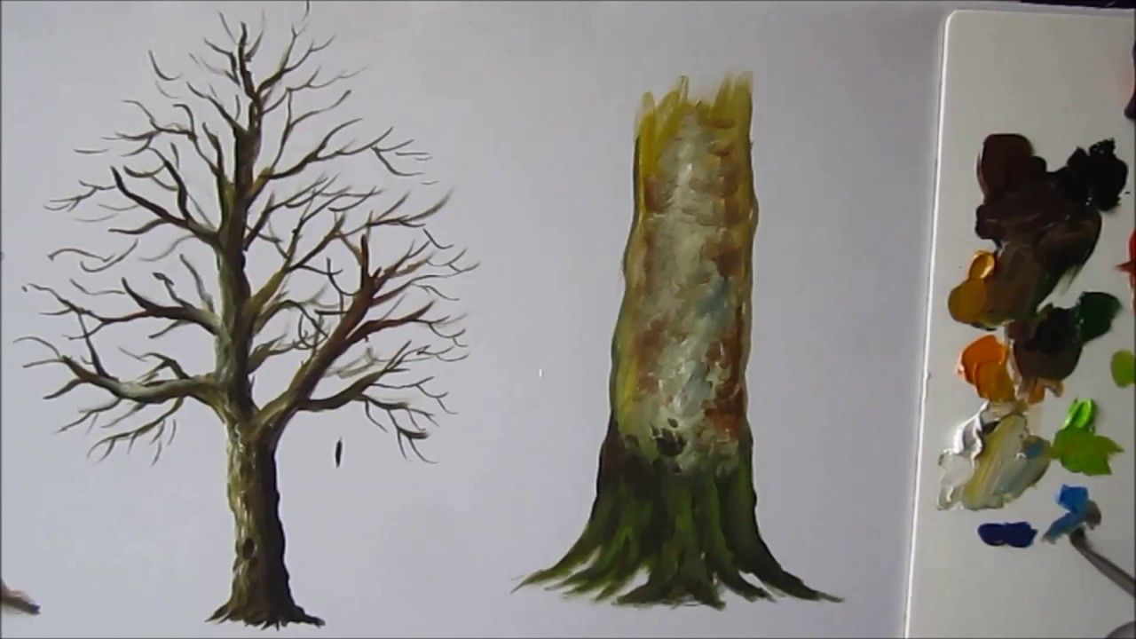 How To Paint A Tree Trunk Lesson 3 Baum Malen
