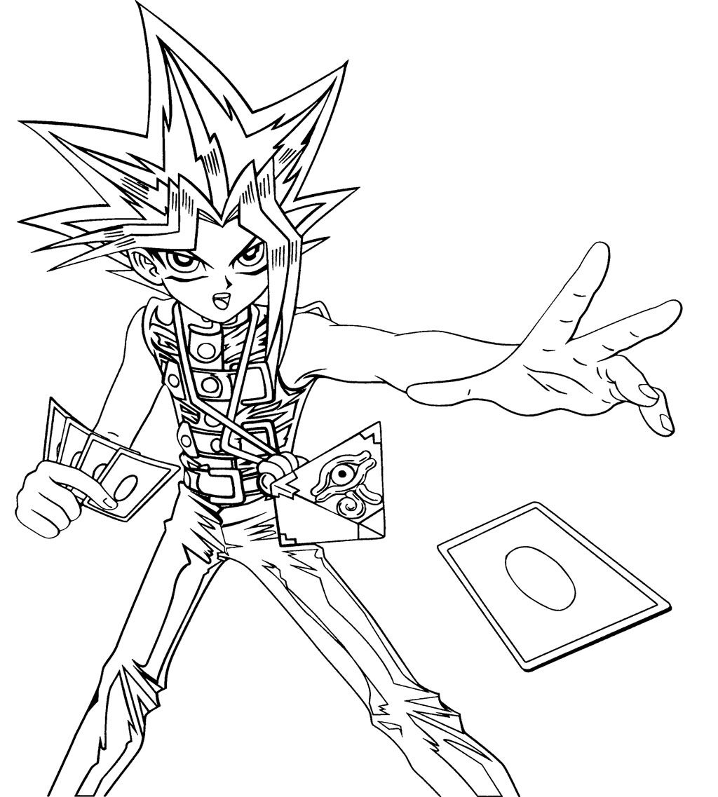 yugioh coloring pages - yu gi oh cards cast coloring page kids coloring pages