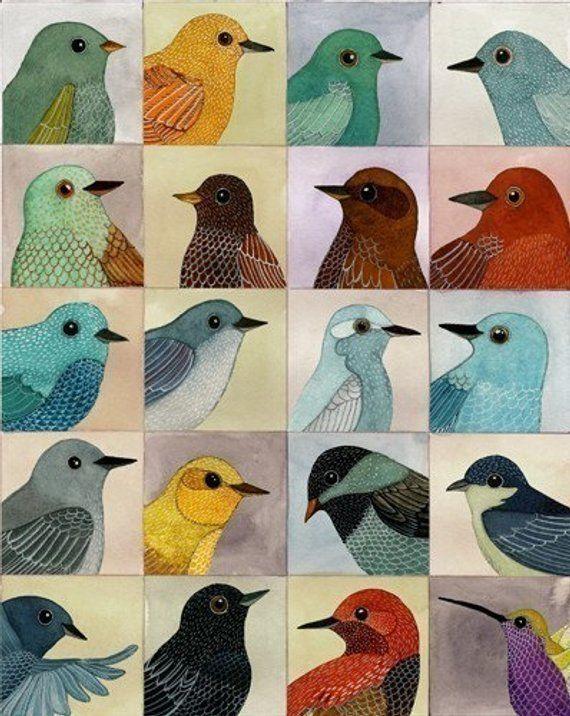 Together Drawing Bird Illustration Bird Art Birds