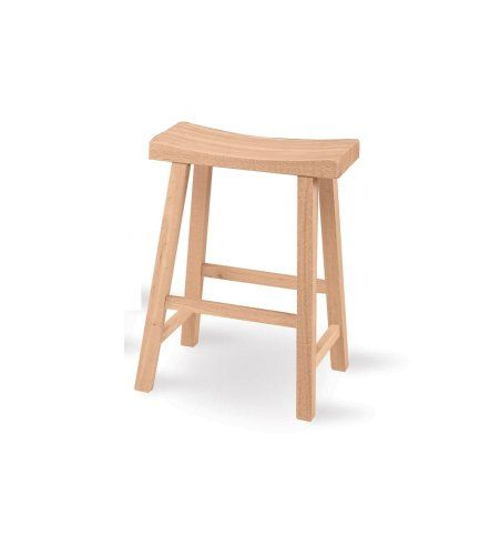1s 682 24 Inch Saddle Seat Stool