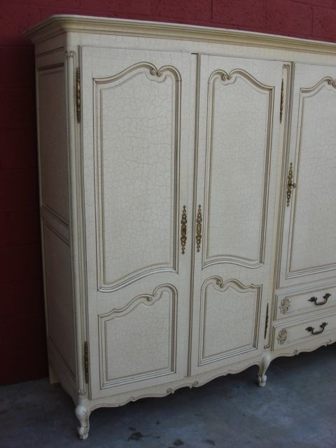 Shabby Chic Closet | French Antique Armoire Wardrobe Closet Cabinet Shabby  Chic
