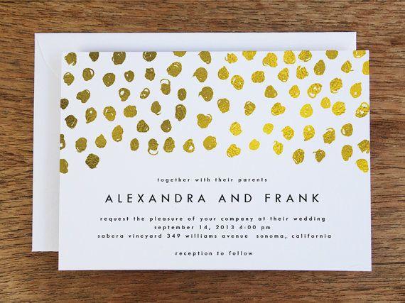 printable wedding invitations gold dots gold dot printable