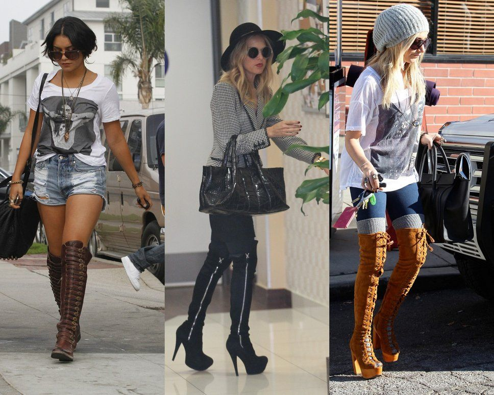 Men in Thigh Highs | How To Wear Thigh High Boots / Celebrities In ...