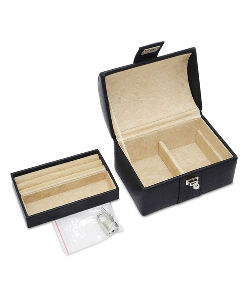 Black Abigail Dome Leather Jewelry Box by Morelle Co zulily