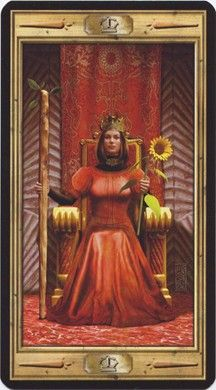 Queen of Wands from the Pictorial Key Tarot