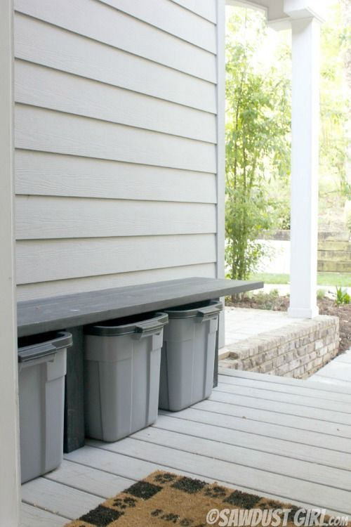Side entrance clean-up and organization | Outdoor DIY | Pinterest ...