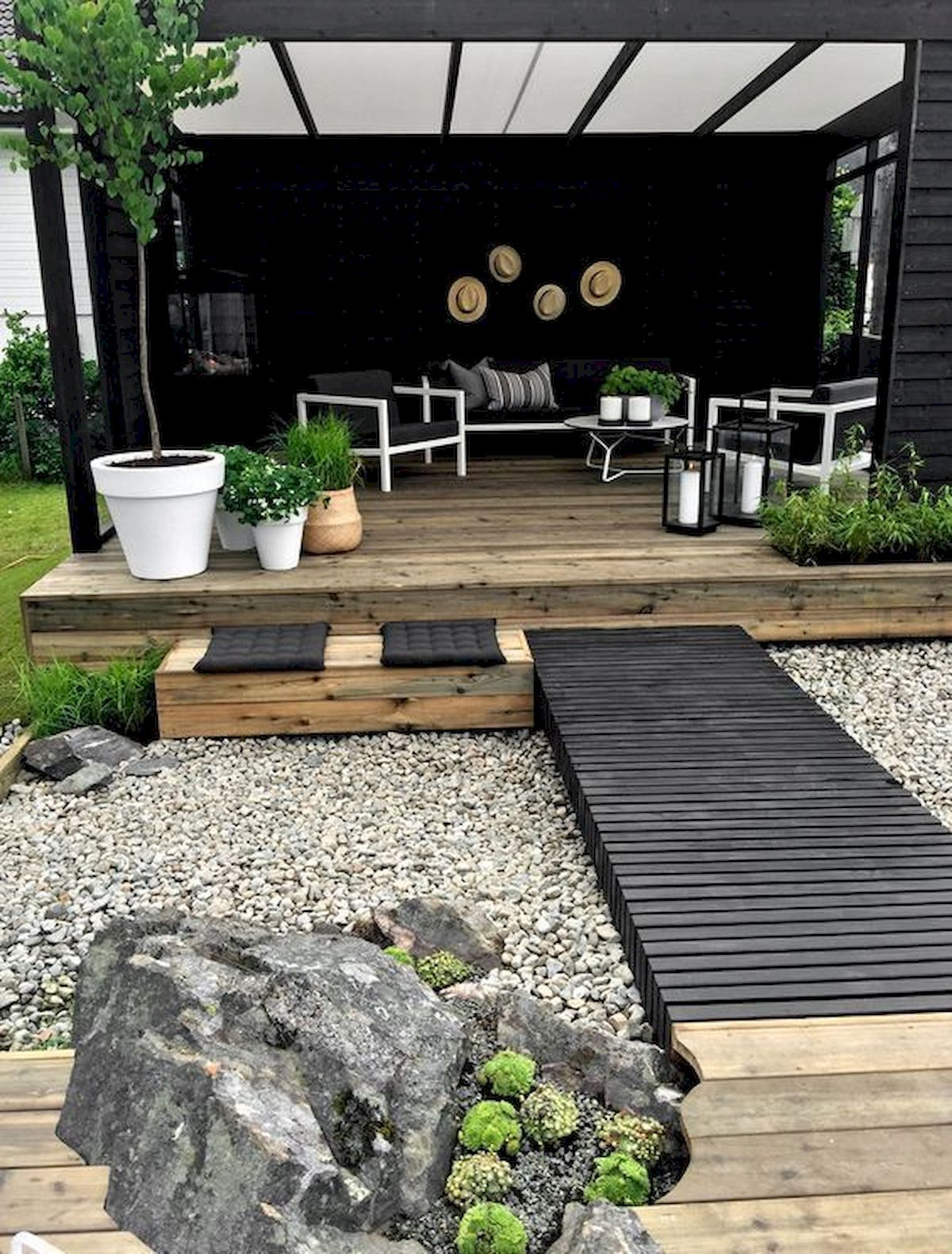 70 Magical Side Yard And Backyard Gravel Garden Design Ideas #gardendesignideas