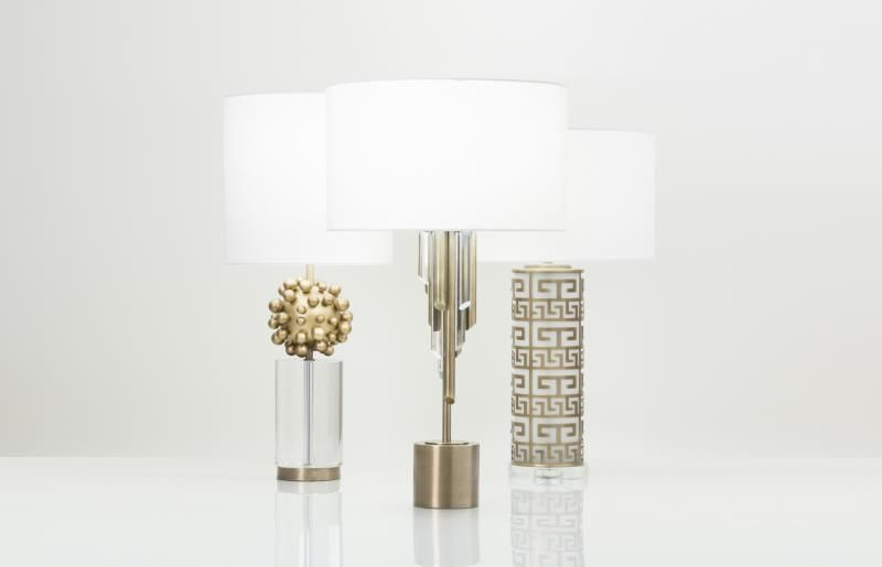 flowdecor weaver table lamp item 3882 metal with a brass finish