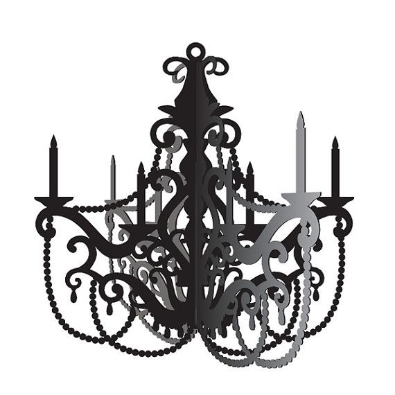 This Listing Is For 1 Chandelier Paris Party Hanging Paper Decoration Make Your Tres Chic With Our Black