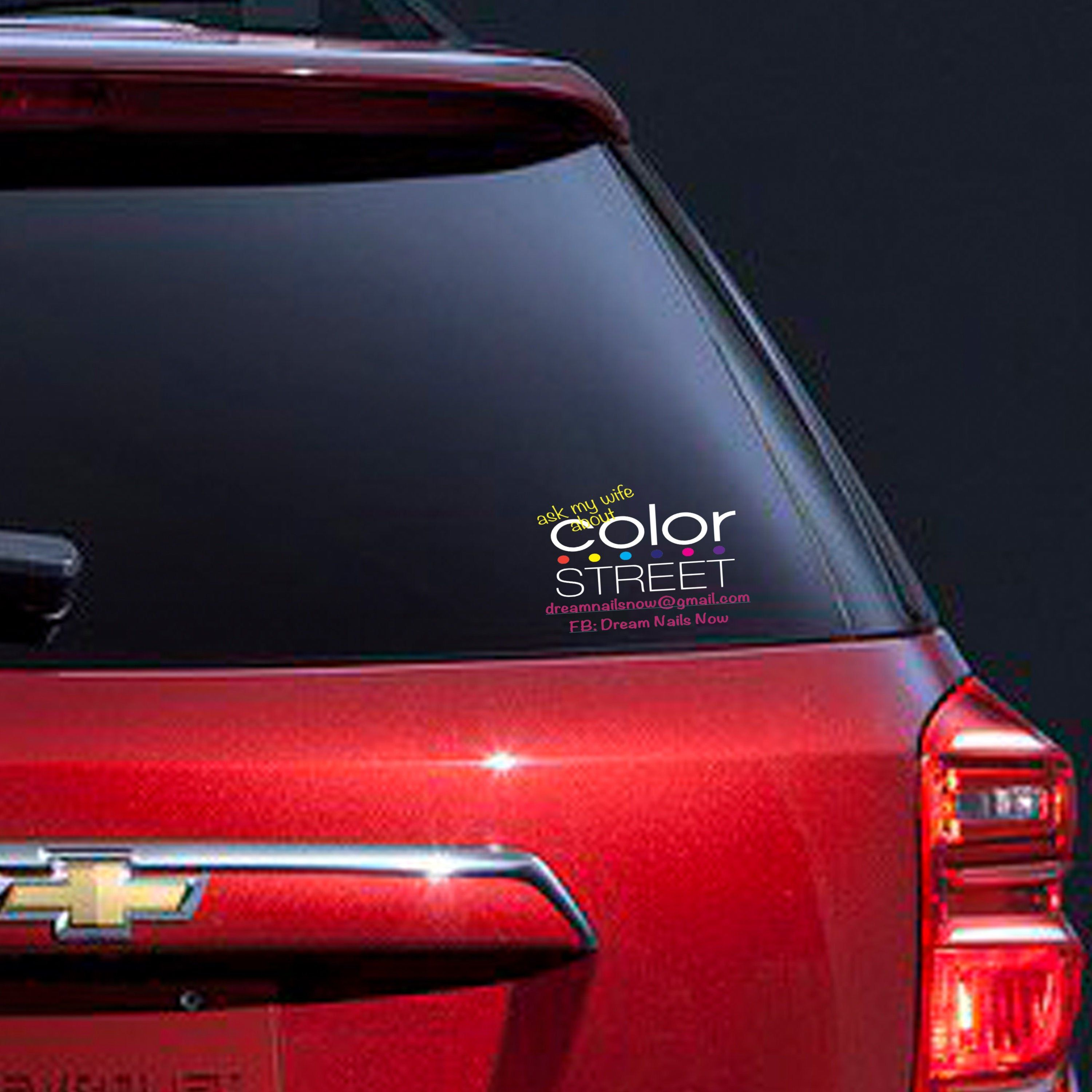 Ask my wife about color street direct sales decal small