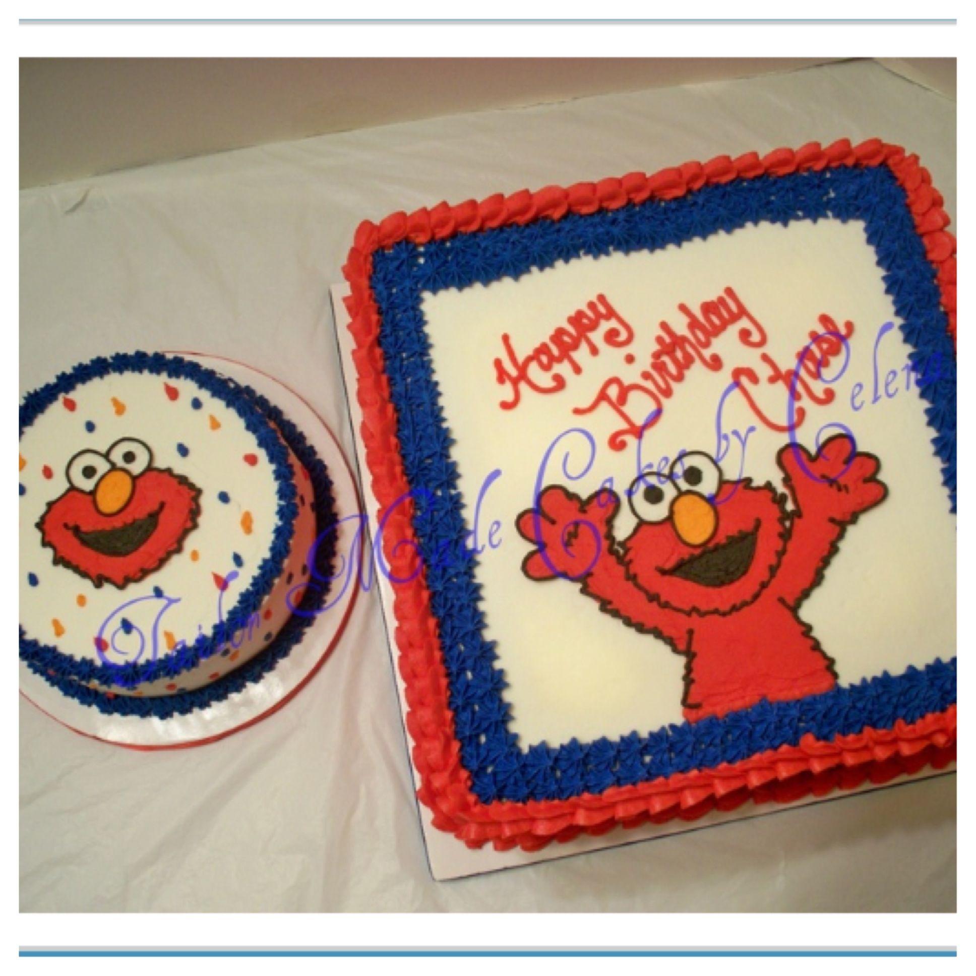 Elmo 1st BirthdaySmash Cake Visit wwwtailormadecakescom for
