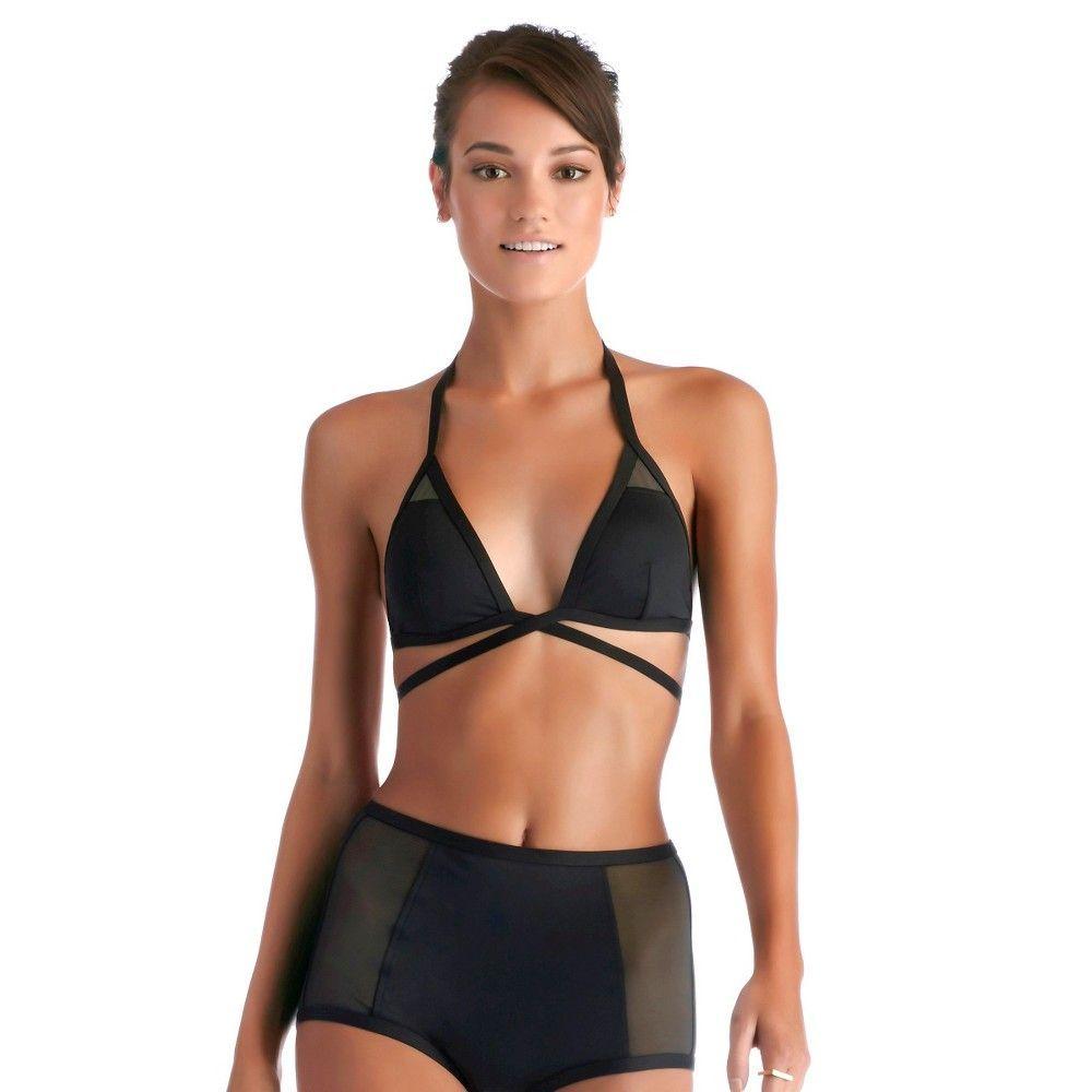 52b17b0f05eaa Women s Mesh Strappy Wrap Halter Bikini Top - Vitamin A Soleil ...