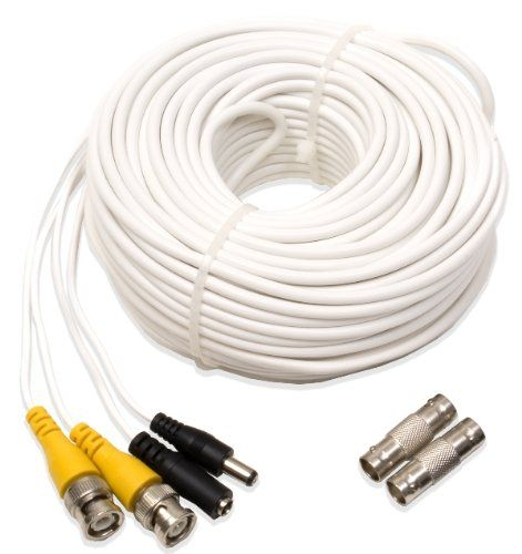 Q See Qs100b Video And Power 100 Foot Bnc Male Cable With 2 Female Connectors Diy Cctv Security Systems Power Cable Connectors