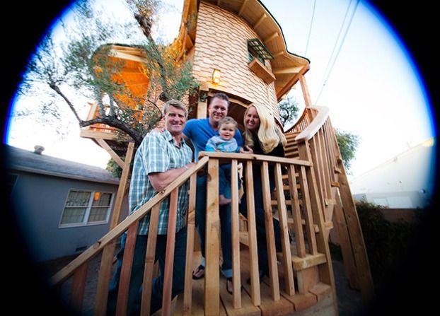 irish themed tree house stairs