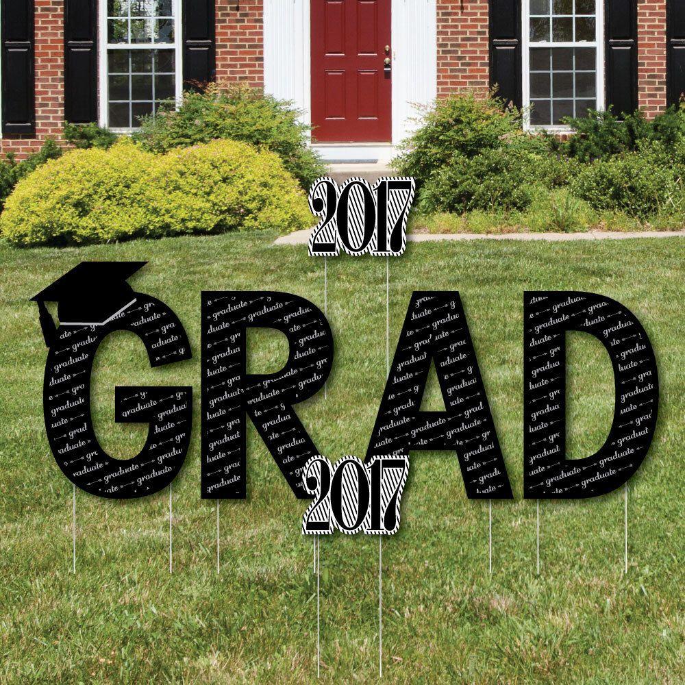 Con-GRAD-ulations Rose Gold Graduation Yard Sign Grad Party Graduation Yard Sign Rose Gold Grad Outdoor Lawn Grad Decorations