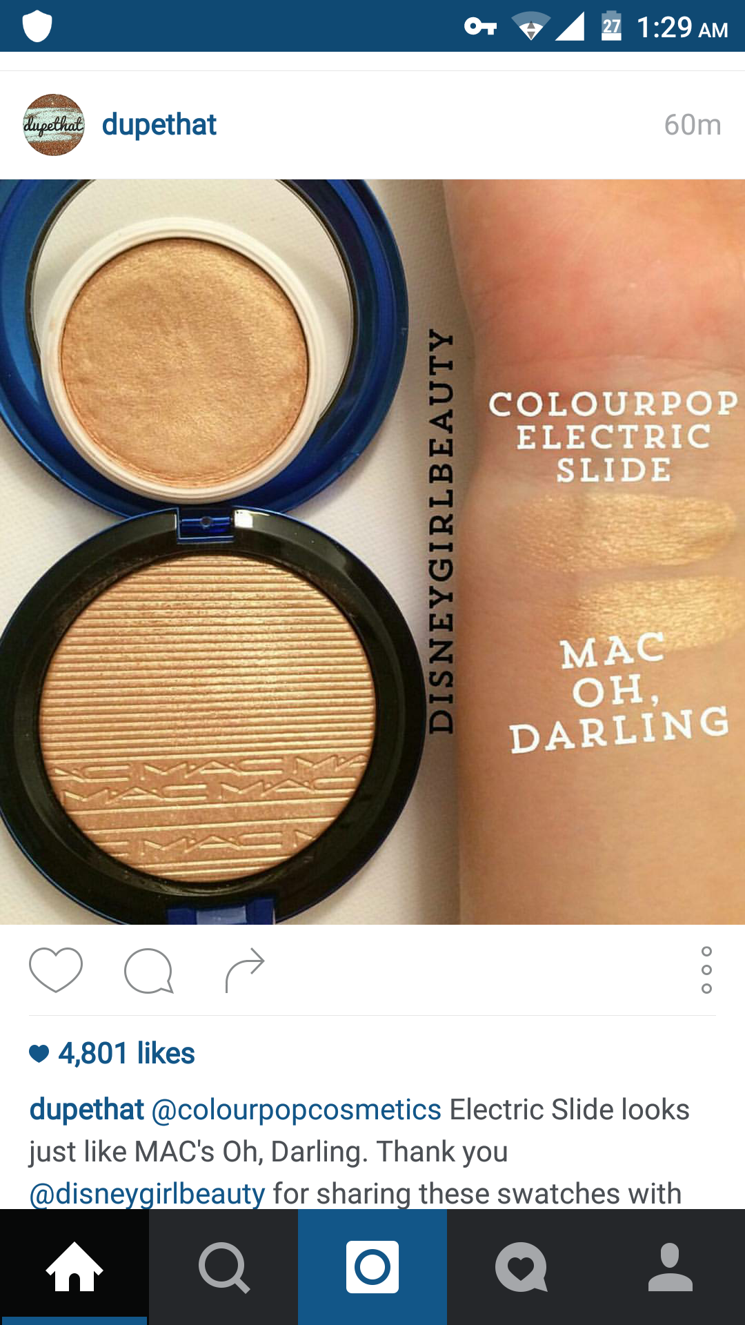 #MAC #colourpop #swatch #Highlighter Dupe