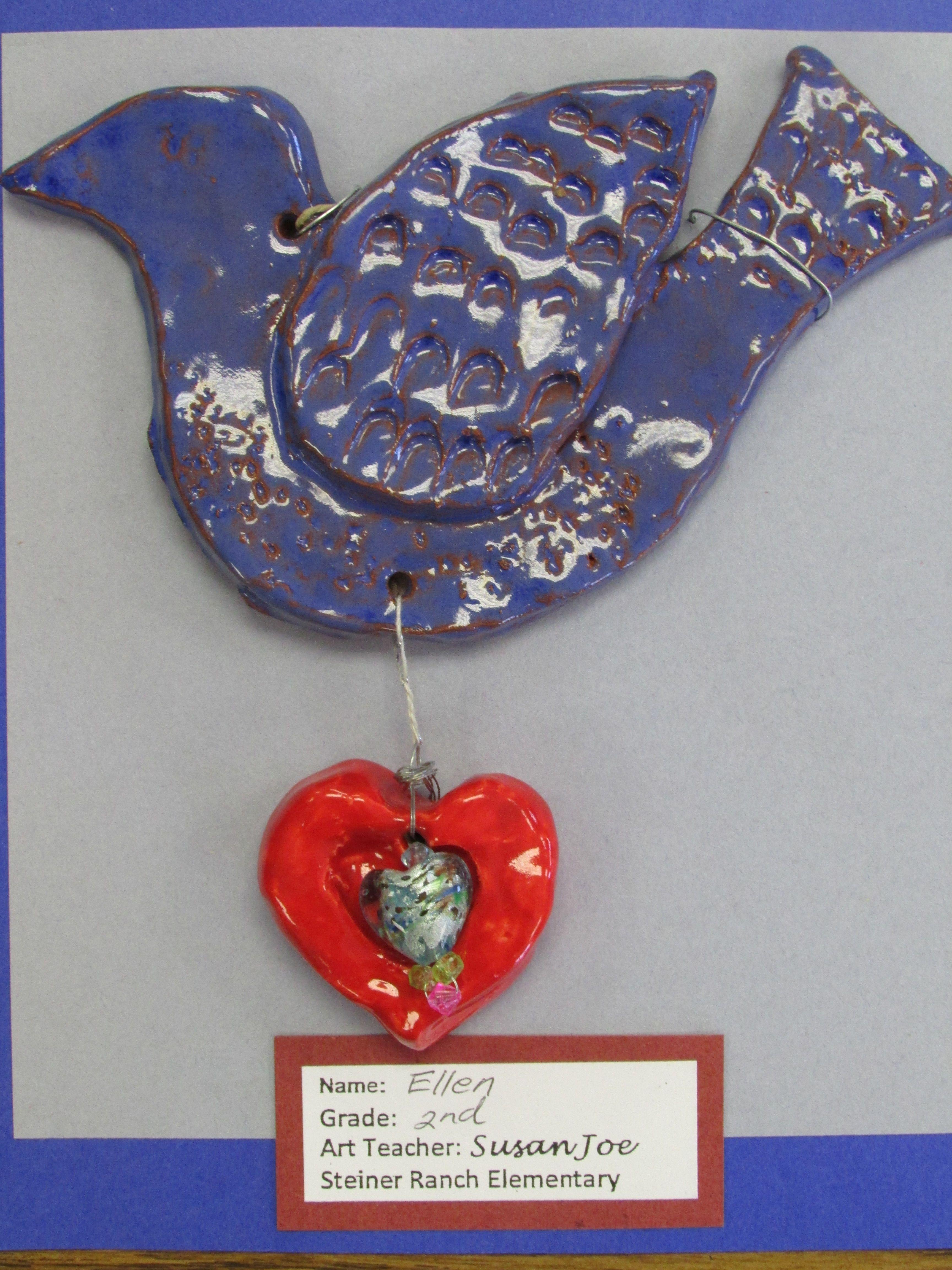 American Folk Art Terra Cotta Clay Sculpture By My 2nd