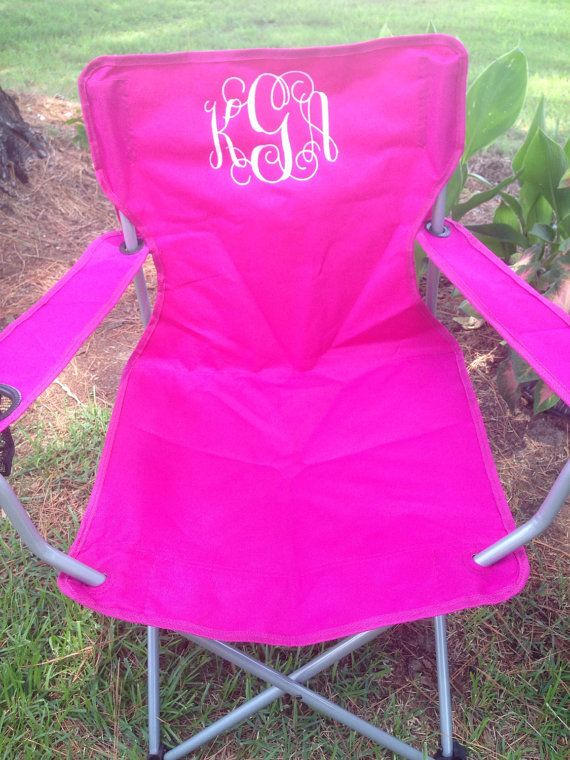Monogrammed Folding Chair Beach Lawn By Kidskutekreations