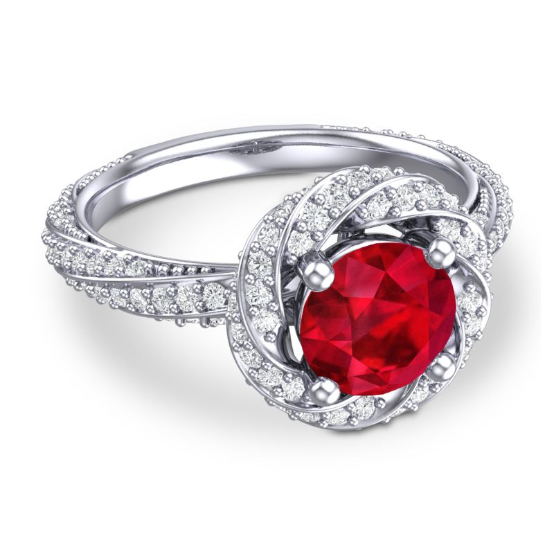 Dazzling PRIMROSE RING for all ruby lovers!
