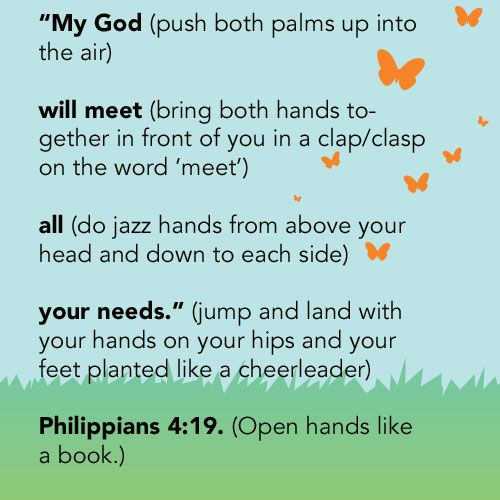 May 2014 memory verse for Preschoolers