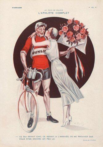 Georges Pavis 1886 1977 Le Tour De France Fantasio 1931 Pinned 28 V 2015 Bike Poster Bike Illustration Cycling Posters