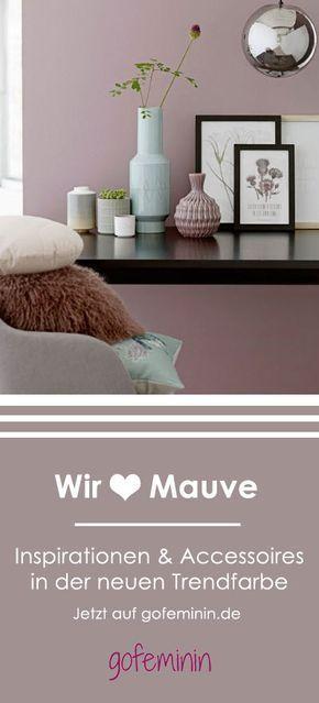 Trendfarbe mauve 24 coole wohnideen zum inspirieren nachkaufen wohnen - Mauve wandfarbe ...