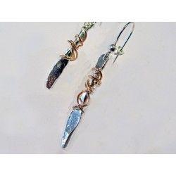 Twffa silver earrings by Sally Ratcliffe jewellery