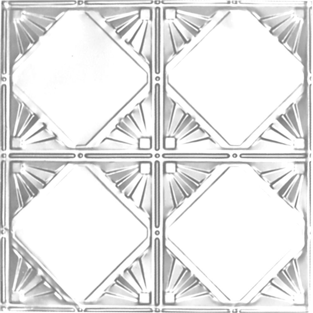 2 Feet X 2 Feet Chrome Plated Steel Finish Lay In Ceiling Tile