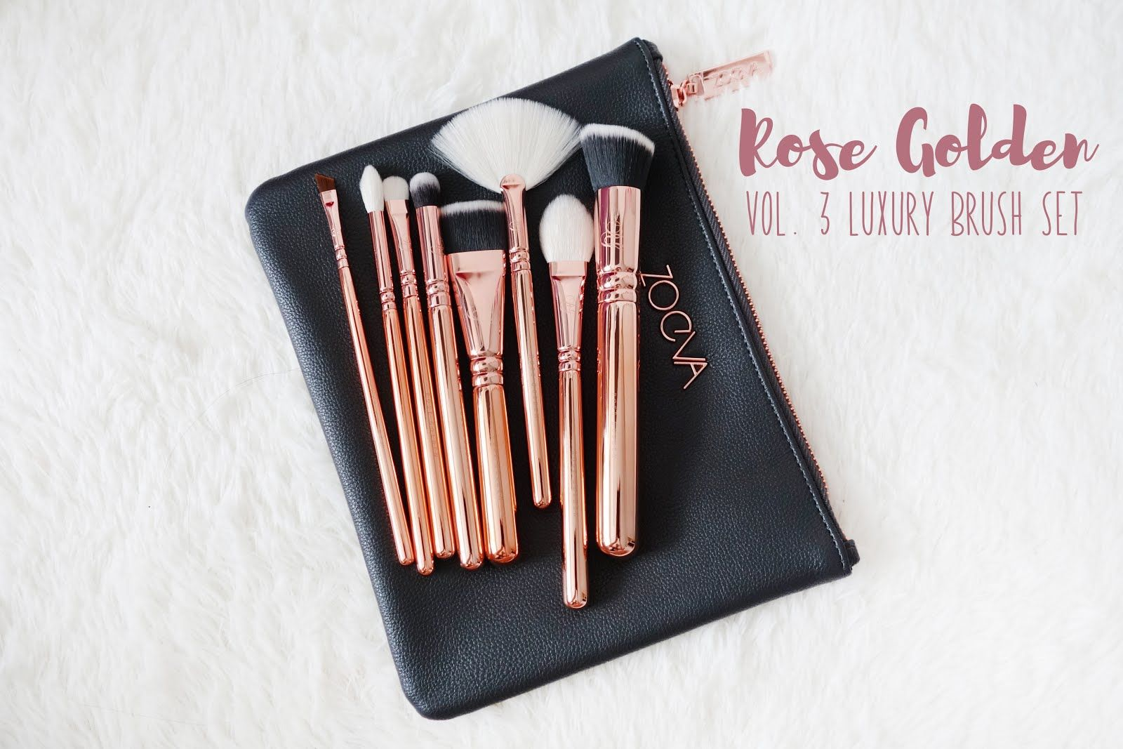 Zoeva Rose Golden Vol. 3 Luxury Brush Set & Rose Golden