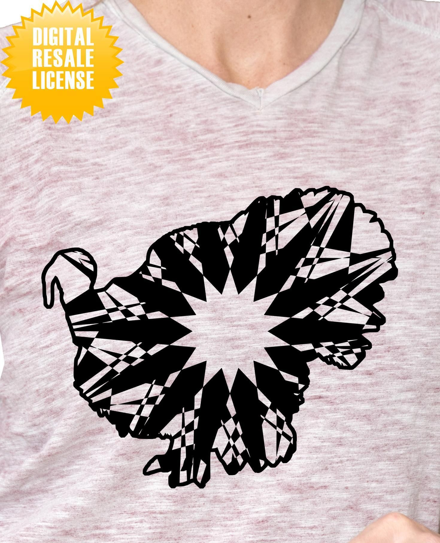 Male Turkey Mandala SVG Digital Image Resale License